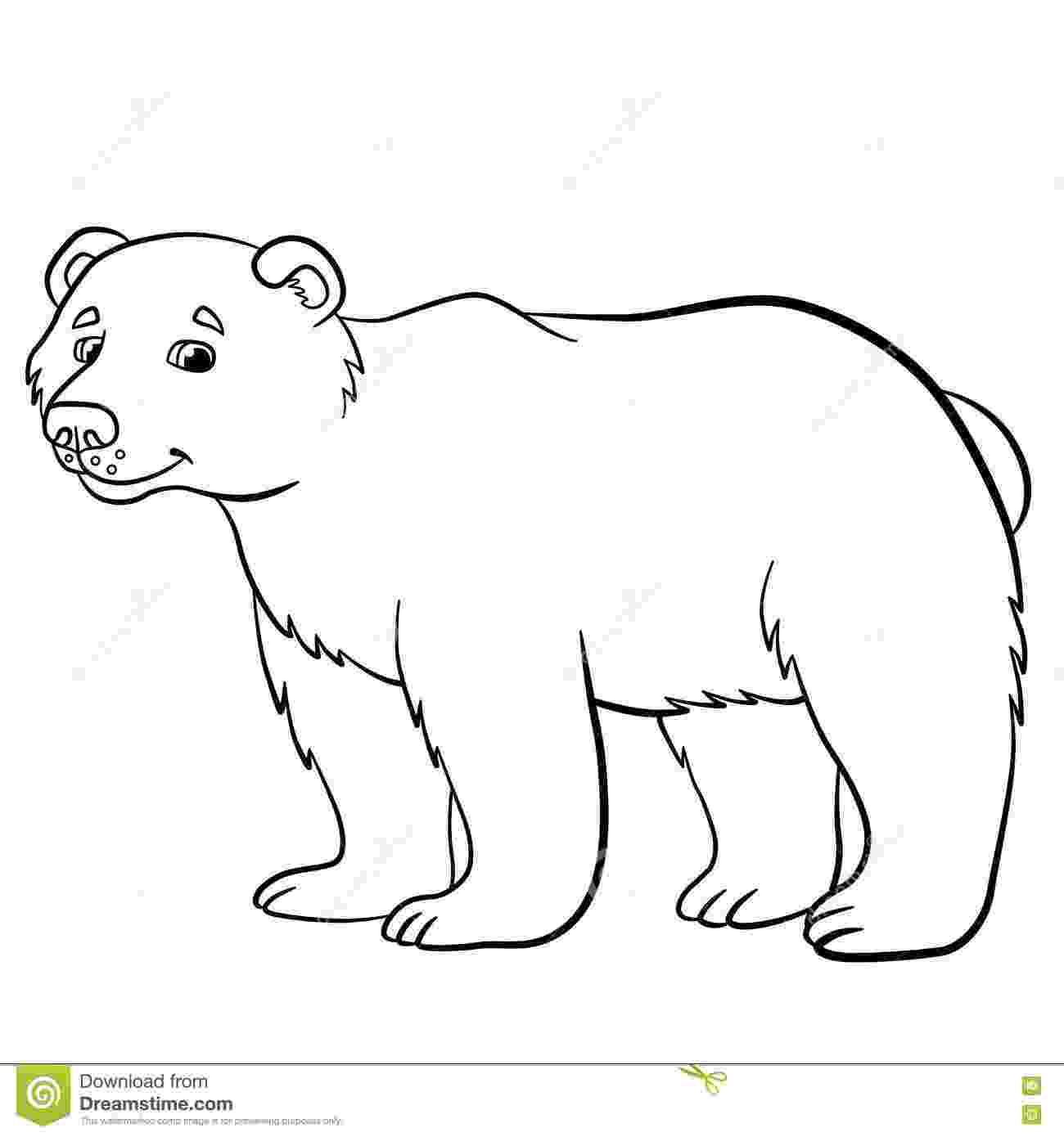 cute wild animals colouring pages coloring pages wild animals cute bear smiles stock animals colouring wild pages cute