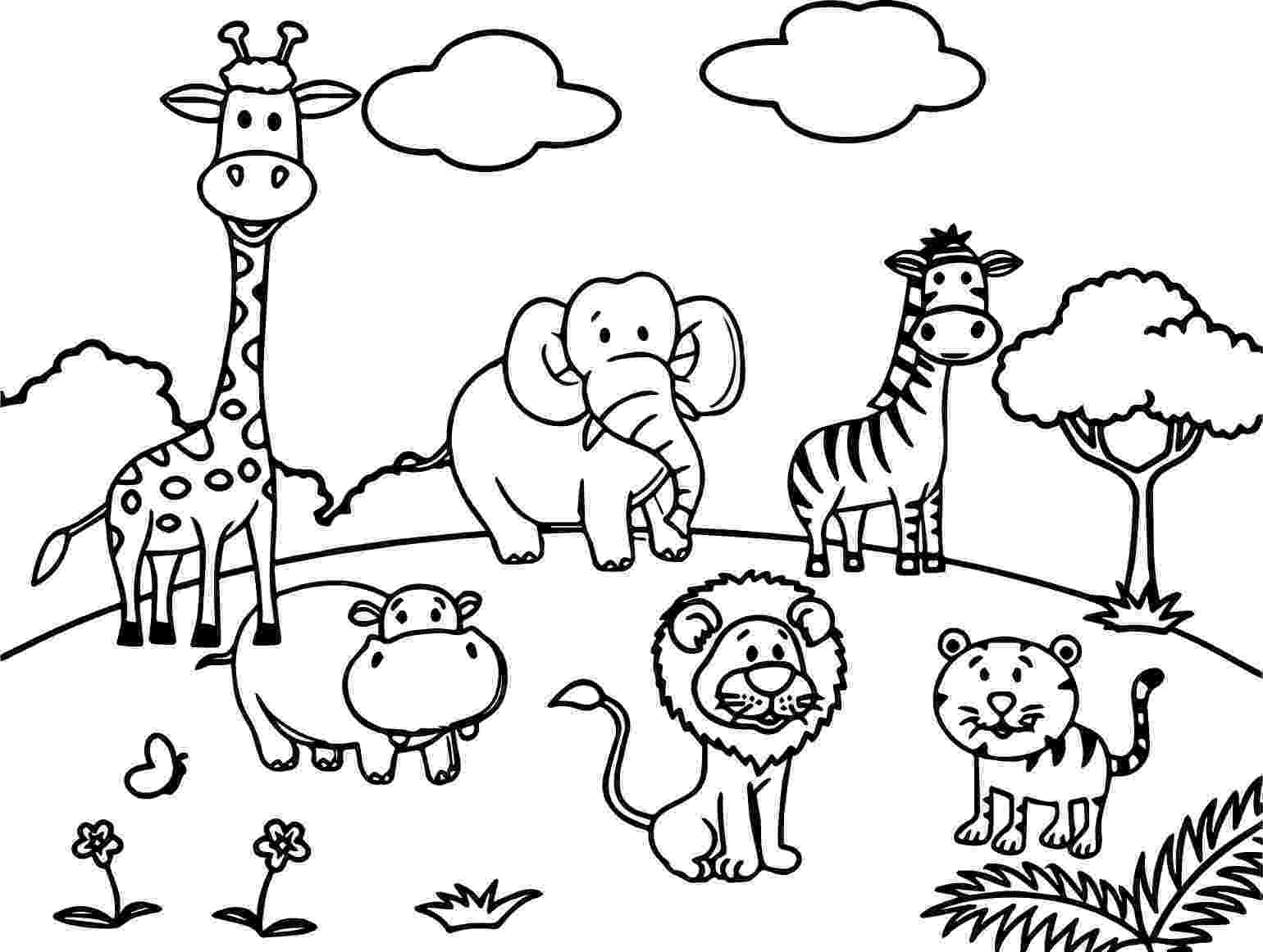 cute wild animals colouring pages coloring pages wild animals three little cute baby fox wild animals cute colouring pages
