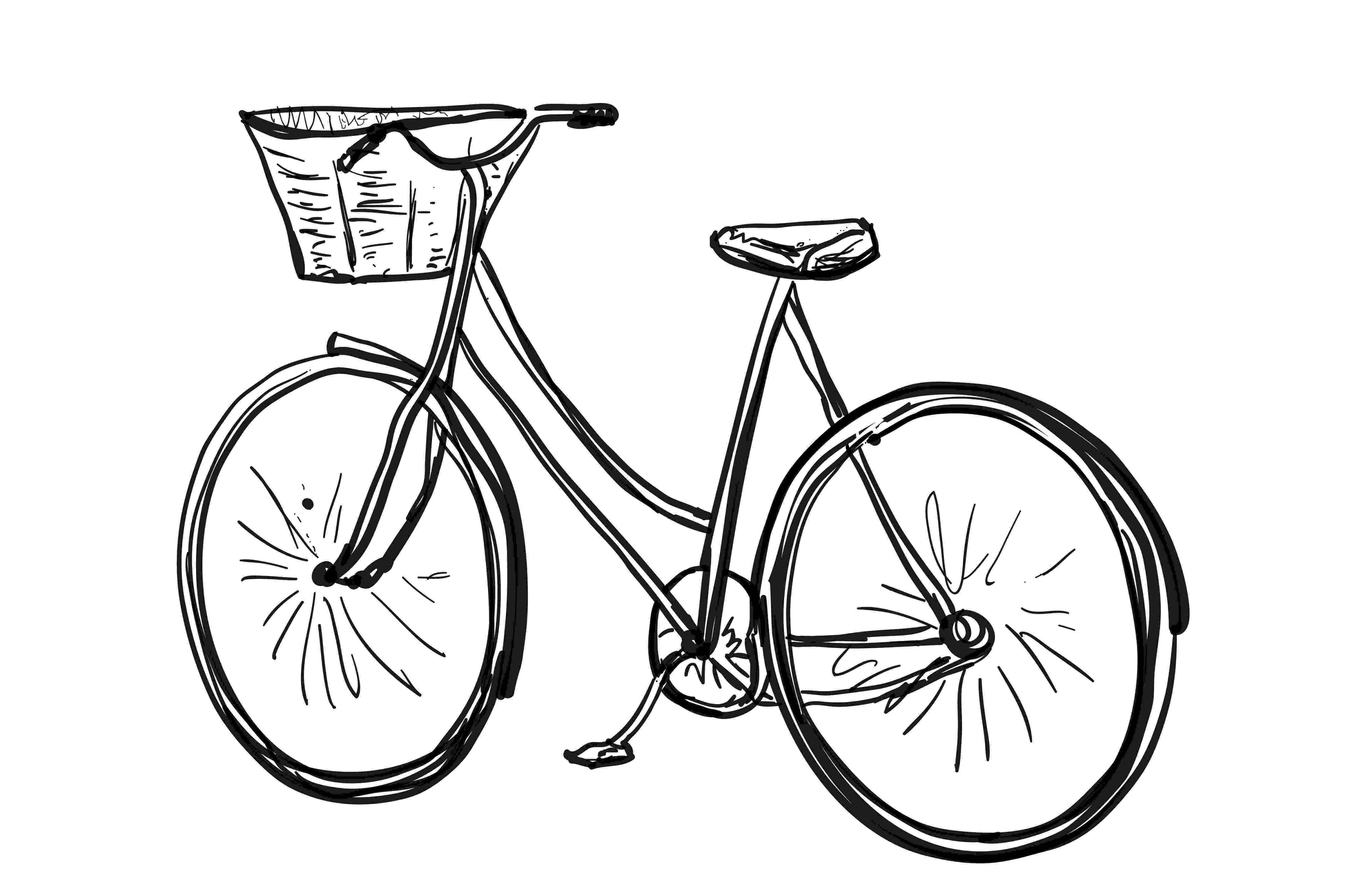 cycle sketch bicycle sketch sport poster illustrations creative market cycle sketch