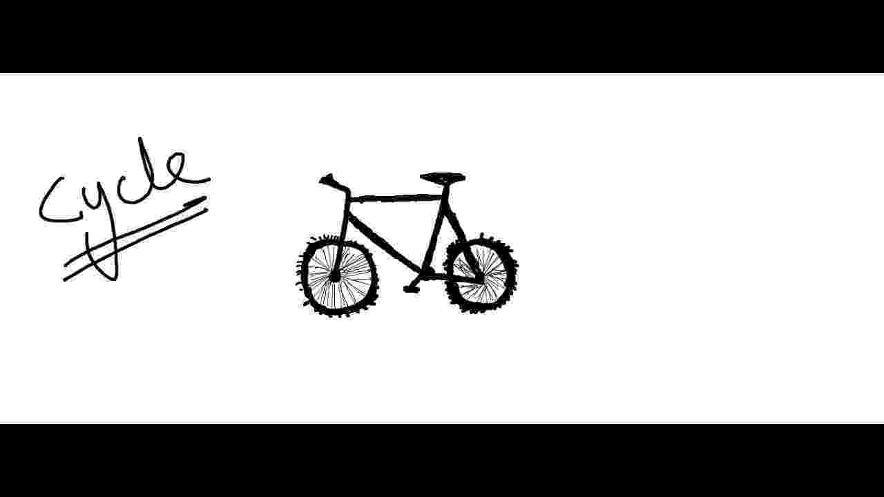 cycle sketch easy kids drawing lessonshow to draw cartoon bicycle for sketch cycle