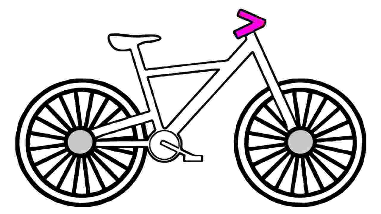 cycle sketch how to draw a bike for kids free download best how to cycle sketch