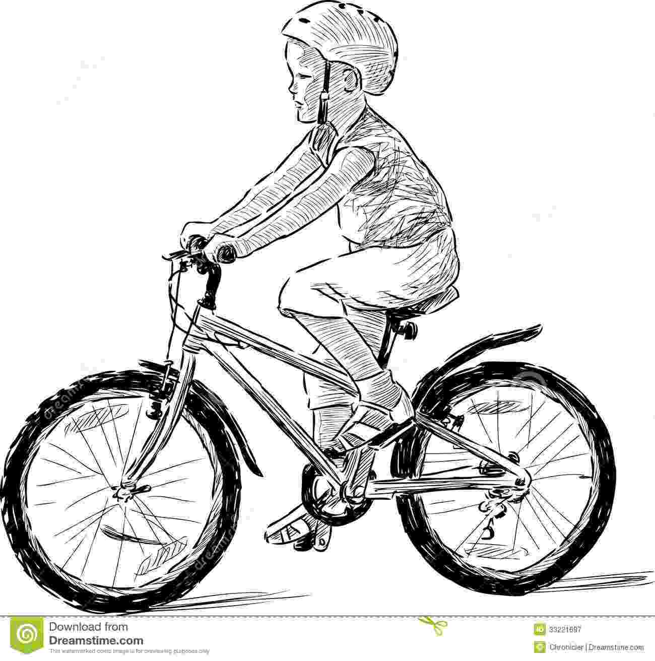 cycle sketch kid riding a cycle royalty free stock photography image cycle sketch