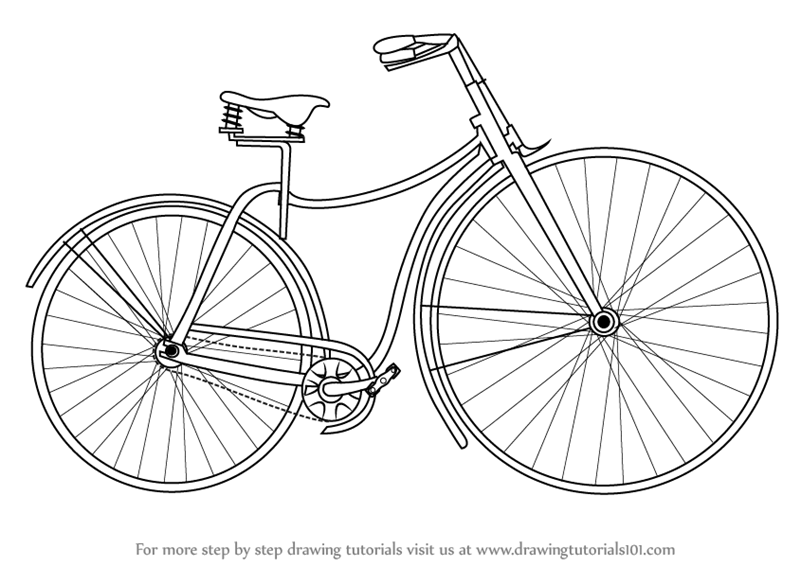 cycle sketch learn how to draw vintage cycle vintage step by step cycle sketch