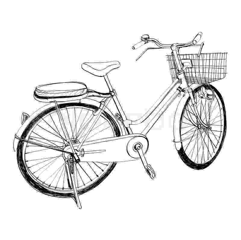 cycle sketch old bicycle sketch illustration hand drawn stock cycle sketch