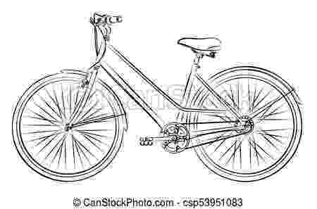 cycle sketch sketch of the old bicycle sketch of the old sports bicycle sketch cycle