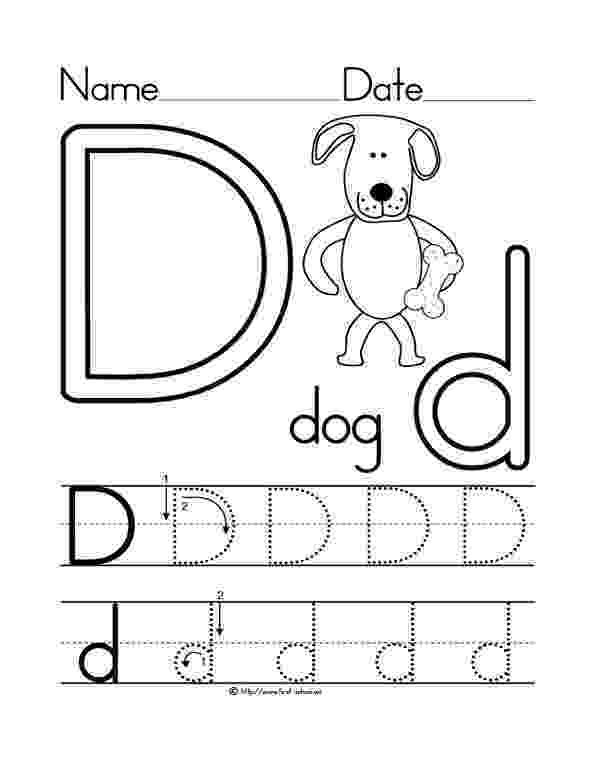 d is for dog learning years coloring pages letters objects for d dog is