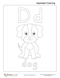 d is for dog letter d coloring pages to download and print for free d is dog for