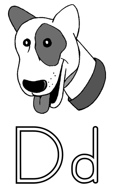 d is for dog letter d coloring pages twisty noodle dog d for is