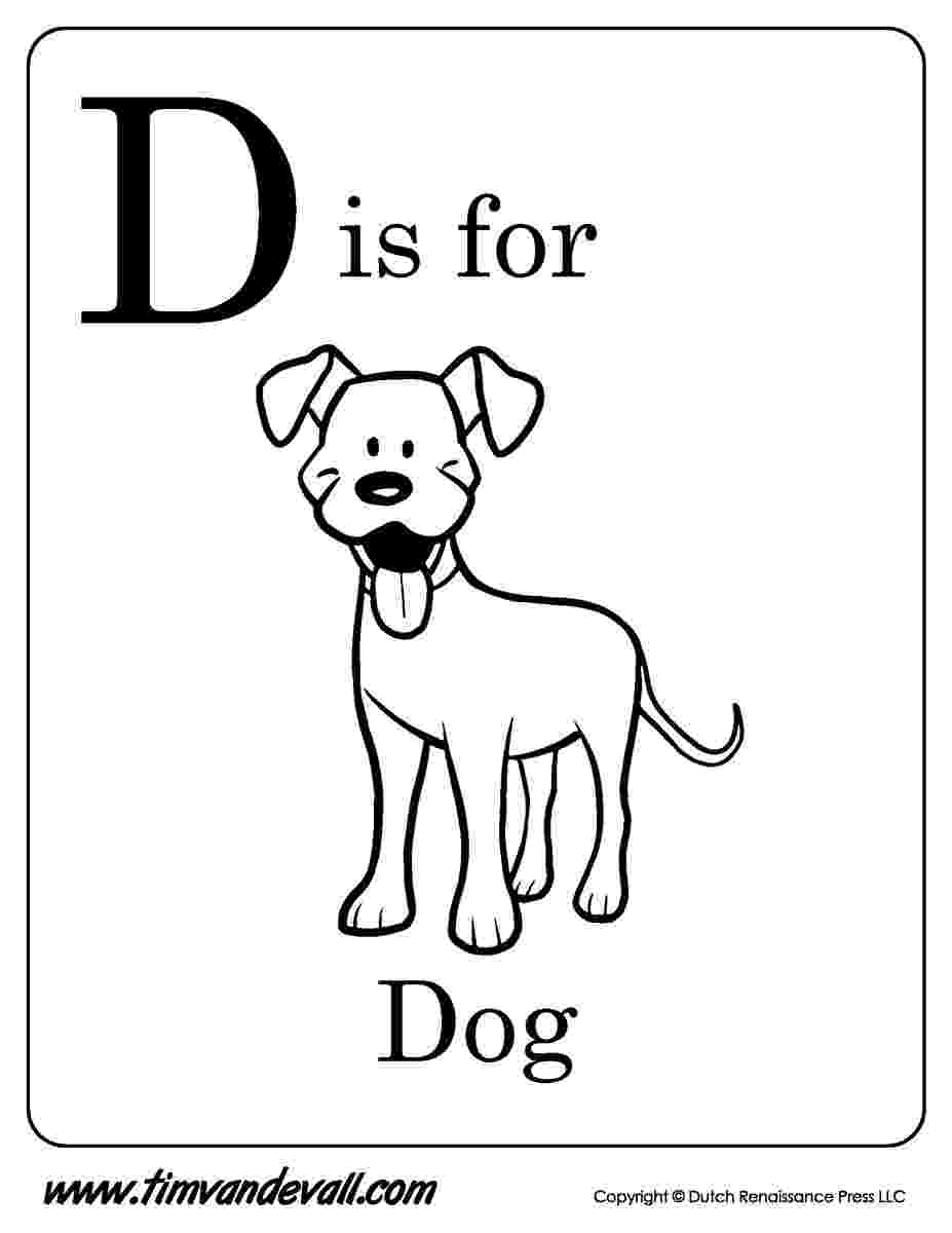 d is for dog letter d is for dog coloring page free printable for d dog is