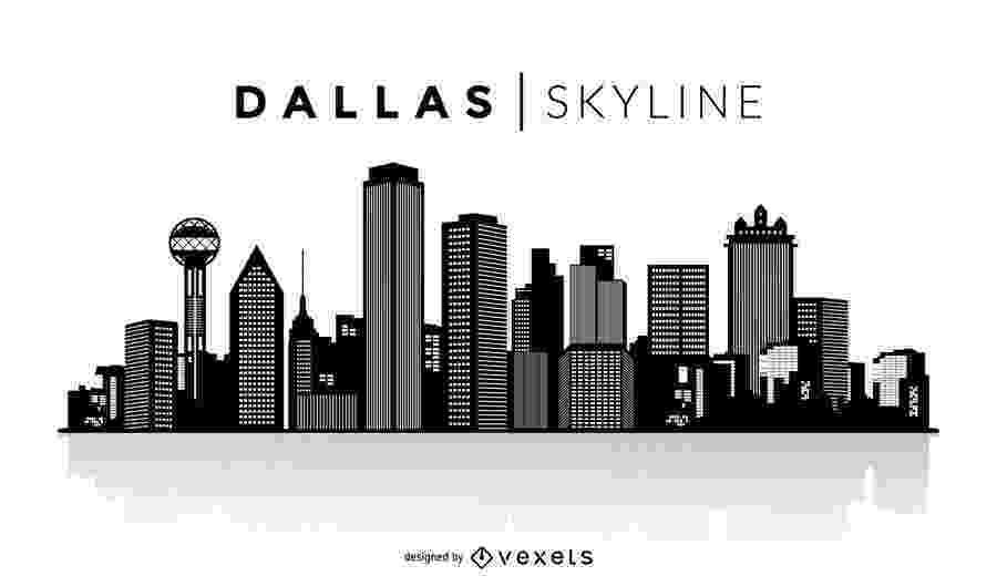 dallas vector dallas silhouette skyline dallas skyline skyline vector dallas