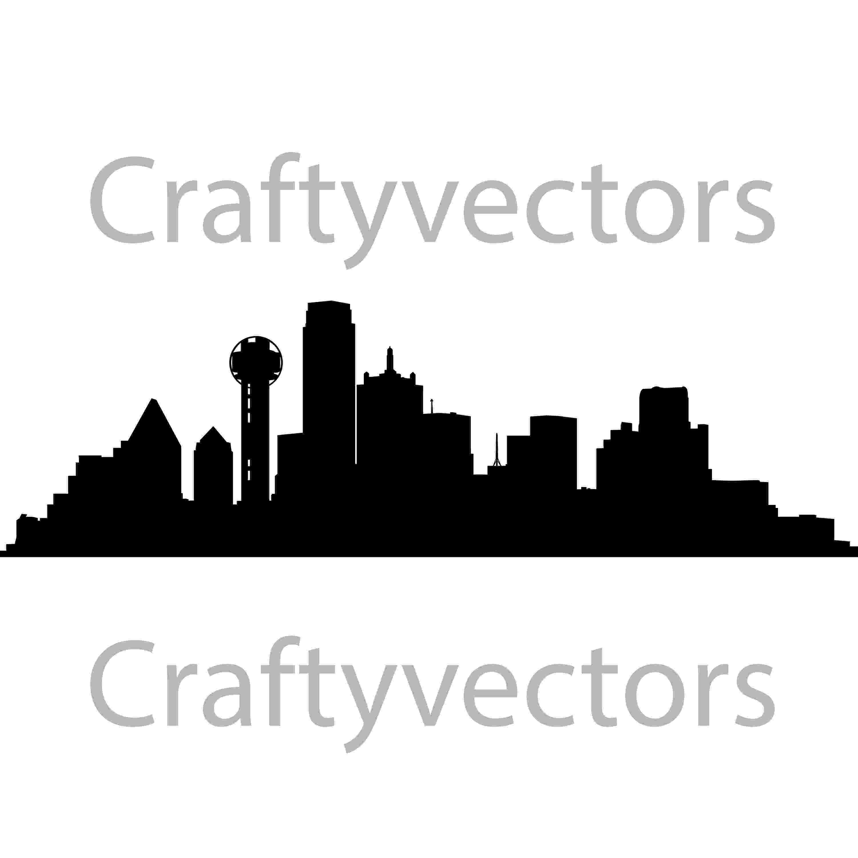 dallas vector dallas skyline vector file etsy vector dallas