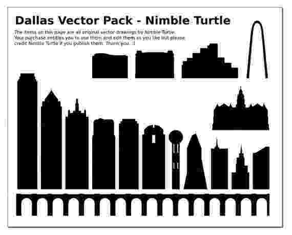 dallas vector dallas texas vector clip art pdf svg eps by nimbleturtleart vector dallas