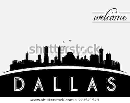 dallas vector dallas usa skyline silhouette black white stock vector vector dallas