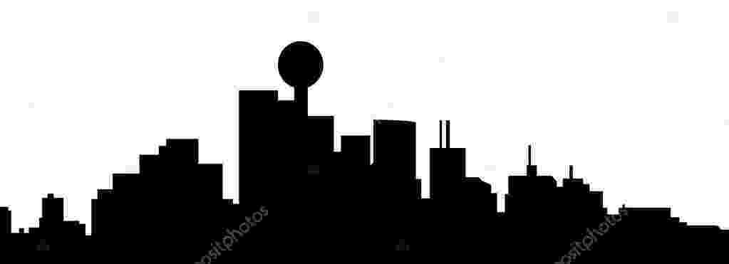 dallas vector houston skyline outline free download on clipartmag vector dallas