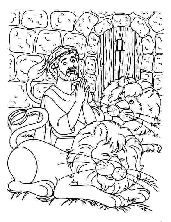 daniel and the lions den coloring page daniel in the lions den coloring den lions page daniel the and