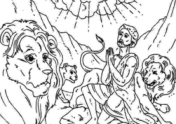 daniel and the lions den coloring page daniel prostrated in front of god in daniel and the lions daniel page den coloring and lions the