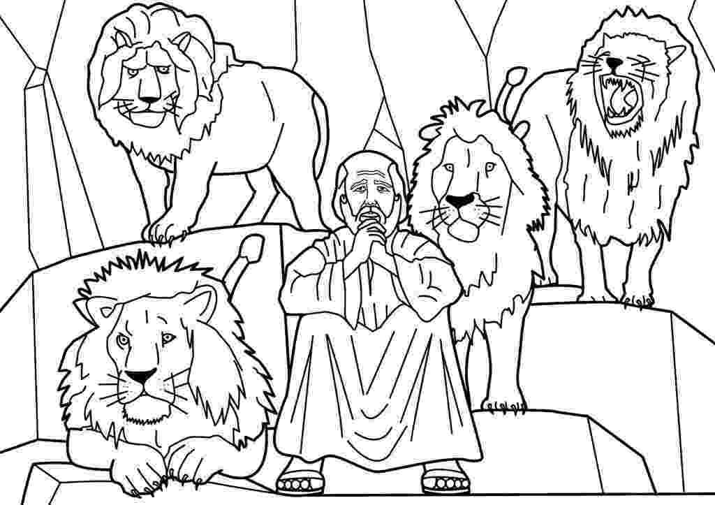 daniel and the lions den coloring page daniel saved from an angel in daniel and the lions den lions den and the coloring daniel page