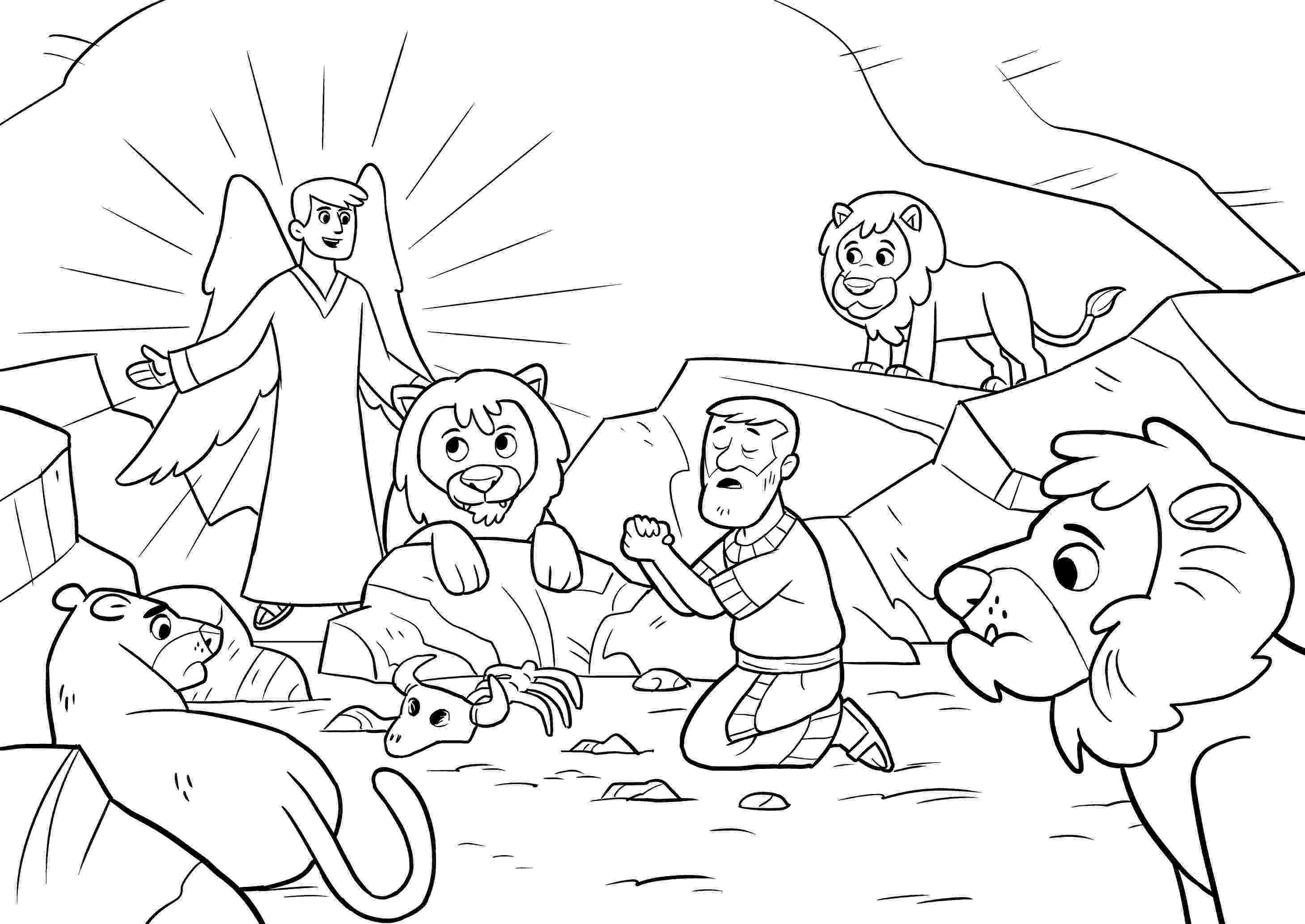daniel and the lions den coloring page free bible activities for kids free bible printables for page and daniel coloring the lions den
