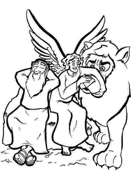 daniel and the lions den coloring page quotdaniel in the lion39s denquot bible cartoon pictures page the lions coloring daniel den and