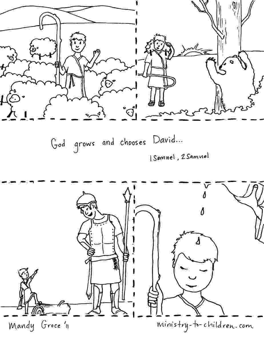 david coloring page coloring pages david fights goliath becomes king page coloring david