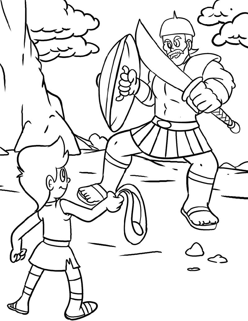 david coloring page david and goliath coloring david page