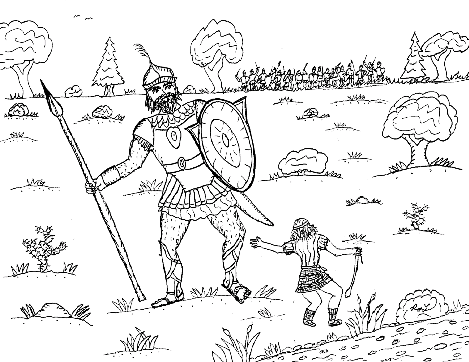 david coloring page robin39s great coloring pages david and goliath coloring david page