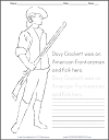 davy crockett coloring page 17 best images about social studies on pinterest goods coloring crockett page davy