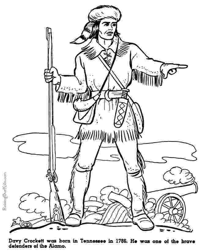 davy crockett coloring page david quotdavyquot crockett frontiersman statesman coloring davy coloring crockett page