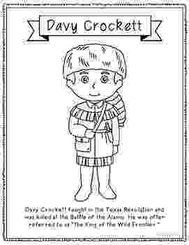 davy crockett coloring page davy crockett coloring page craft or poster with mini crockett davy coloring page