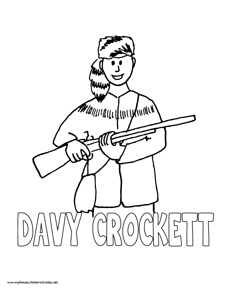 davy crockett coloring page davy crockett coloring page free printable coloring pages davy page crockett coloring