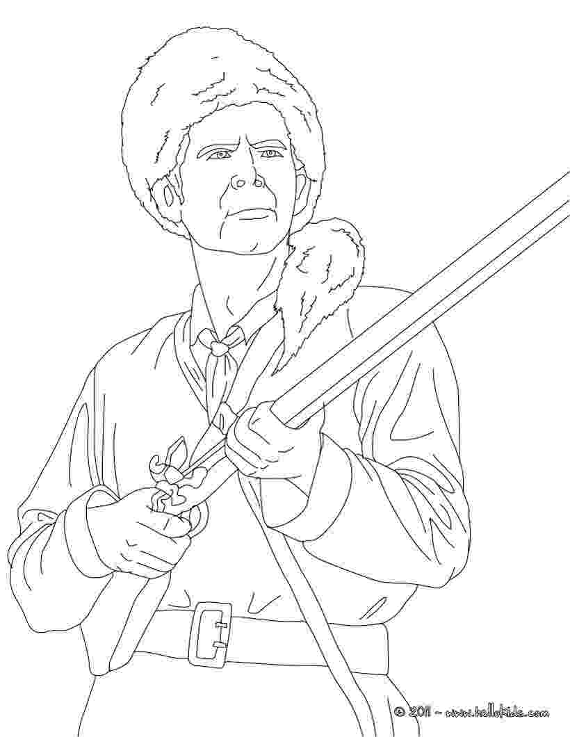davy crockett coloring page davy crockett king of the wild frontier coloring page coloring davy crockett page