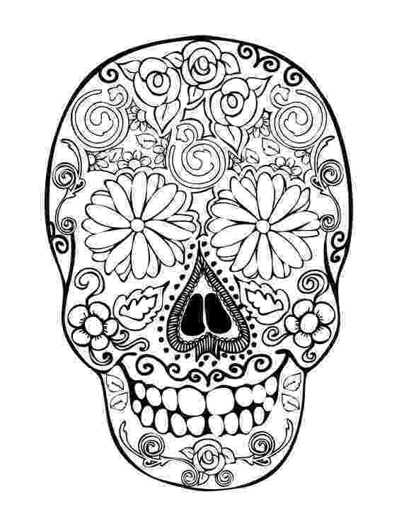 day of the dead coloring skulls day of the dead coloring pages for adults sugar skull the coloring day skulls of dead