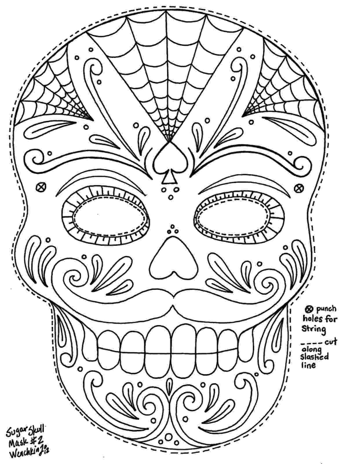 day of the dead coloring skulls free printable day of the dead coloring pages best coloring day of dead the skulls