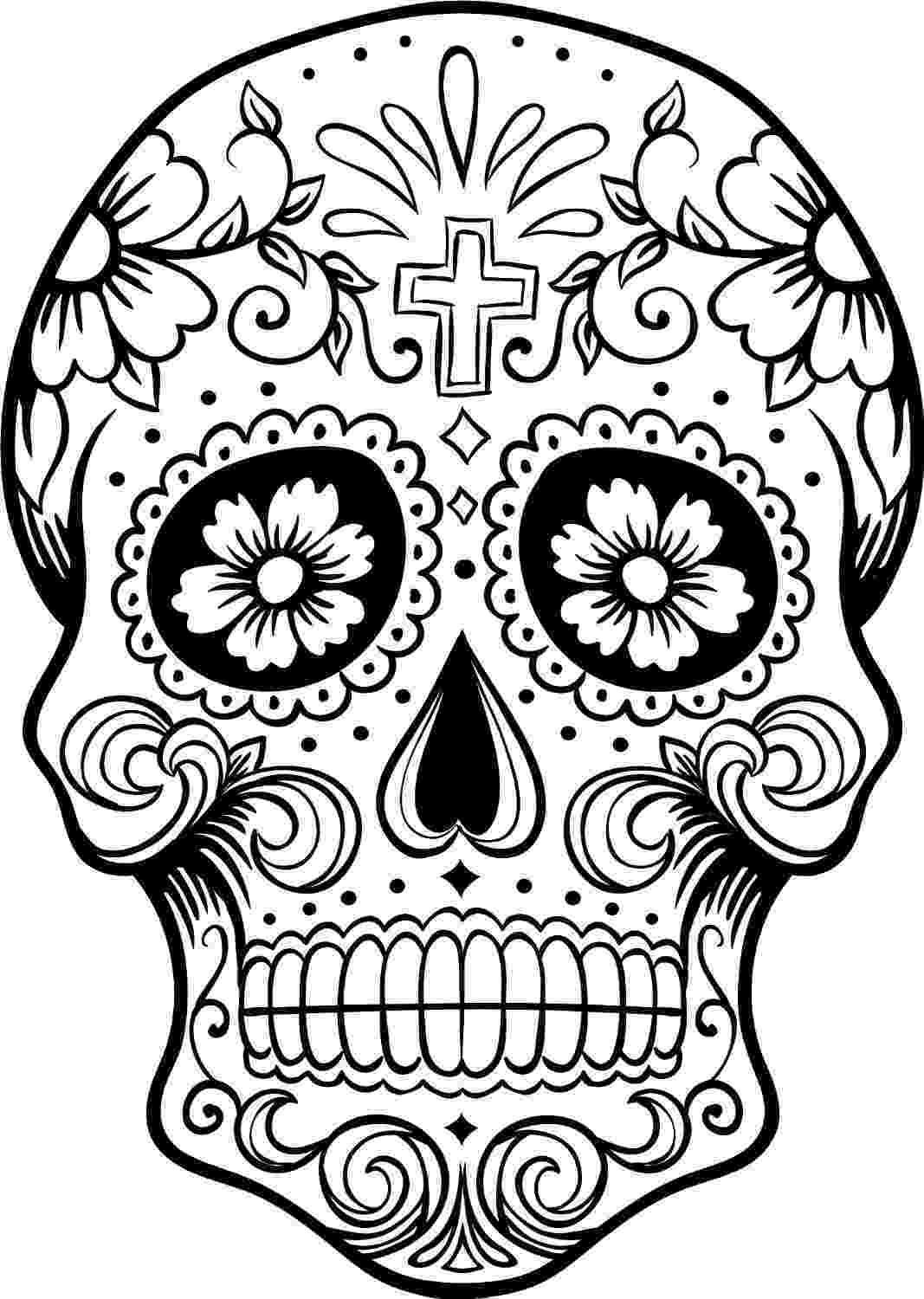 day of the dead coloring skulls free printable day of the dead coloring pages best coloring skulls day the dead of