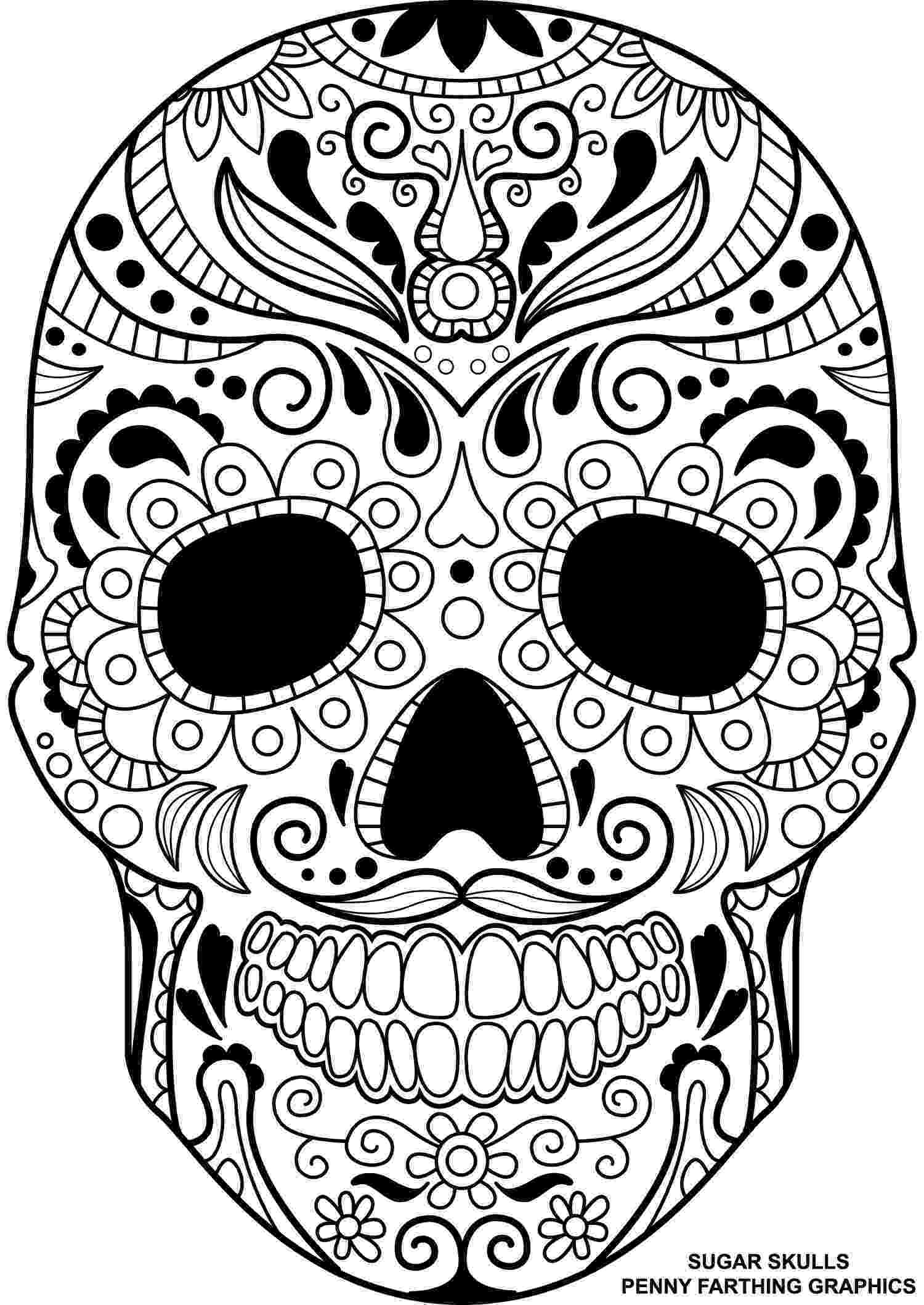 day of the dead coloring skulls free printable skull coloring pages for kids coloring dead of the skulls day