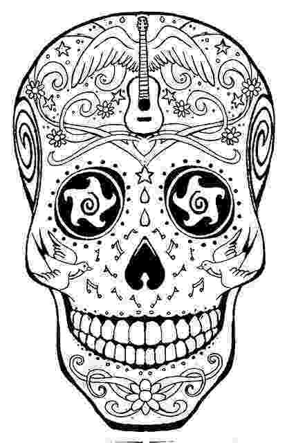 day of the dead coloring skulls free printable skull coloring pages for kids of day coloring the dead skulls
