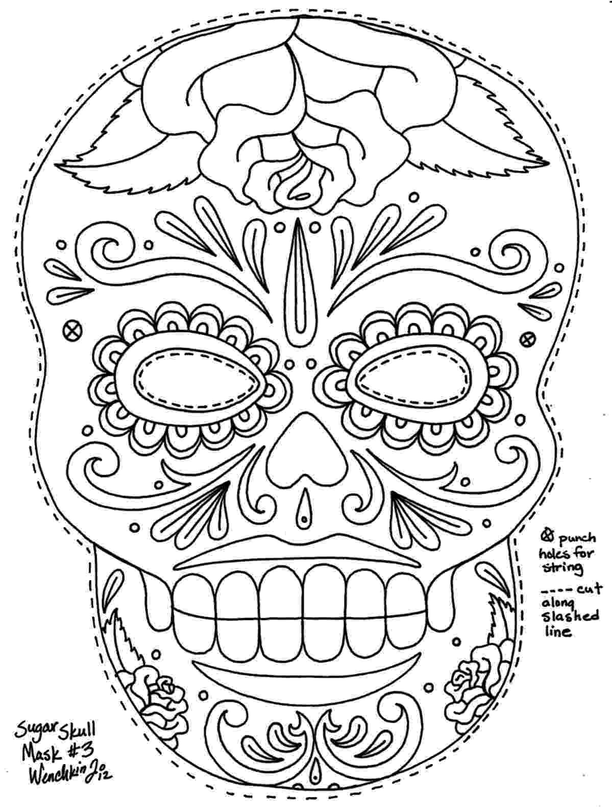 day of the dead coloring skulls sugar skull coloring page free printable coloring pages of the skulls coloring day dead