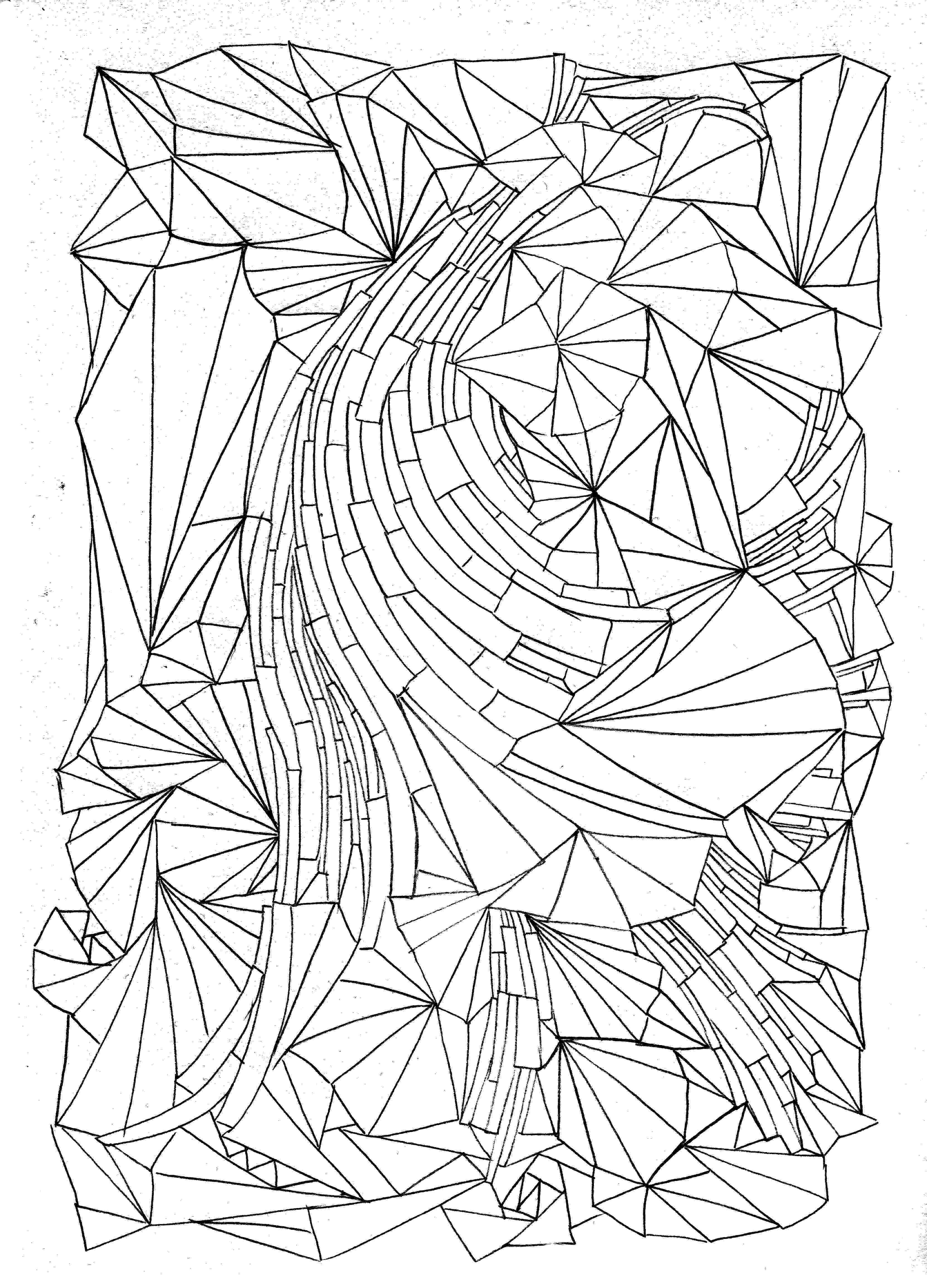 design coloring page free printable geometric coloring pages for adults coloring design page