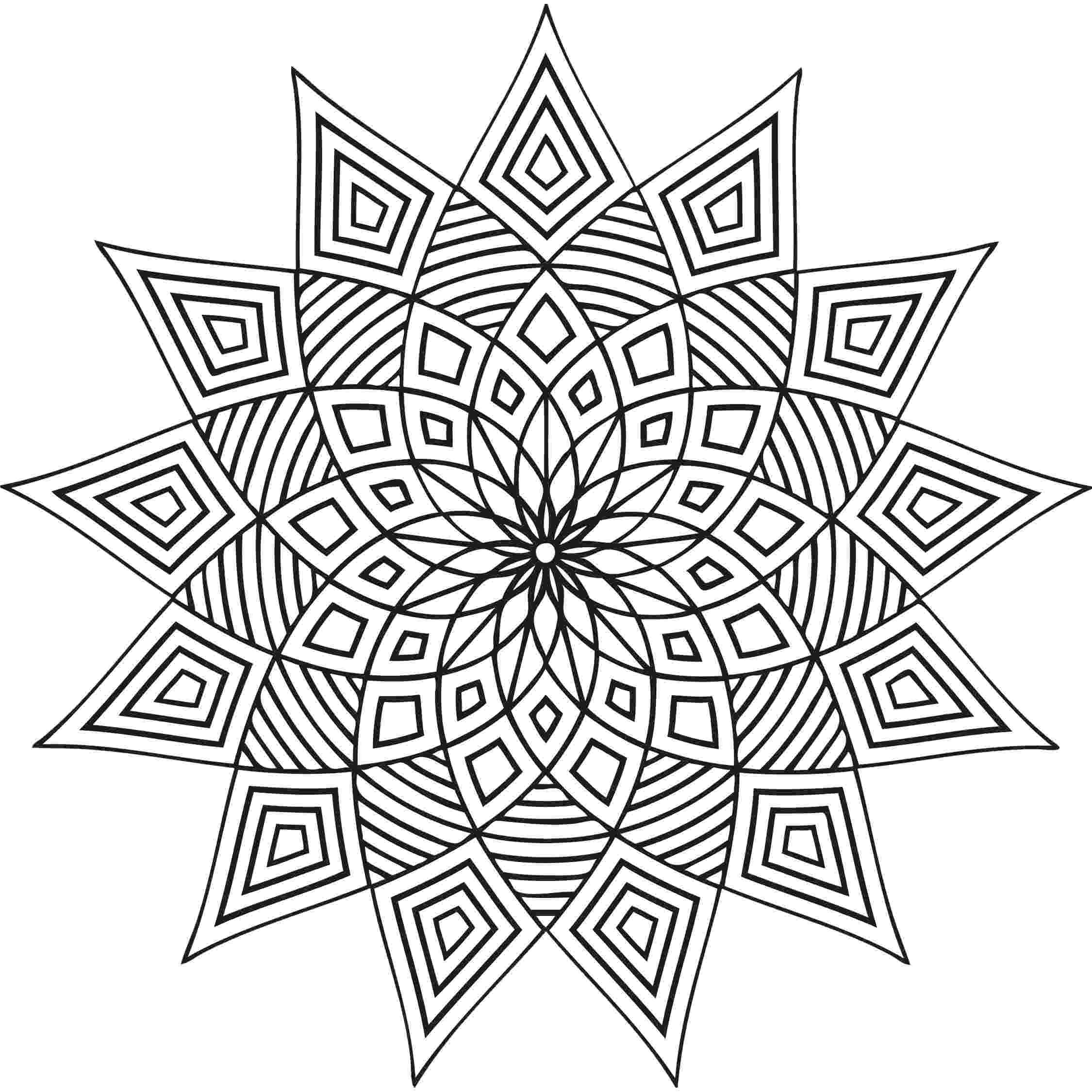 design coloring page free printable geometric coloring pages for adults page coloring design