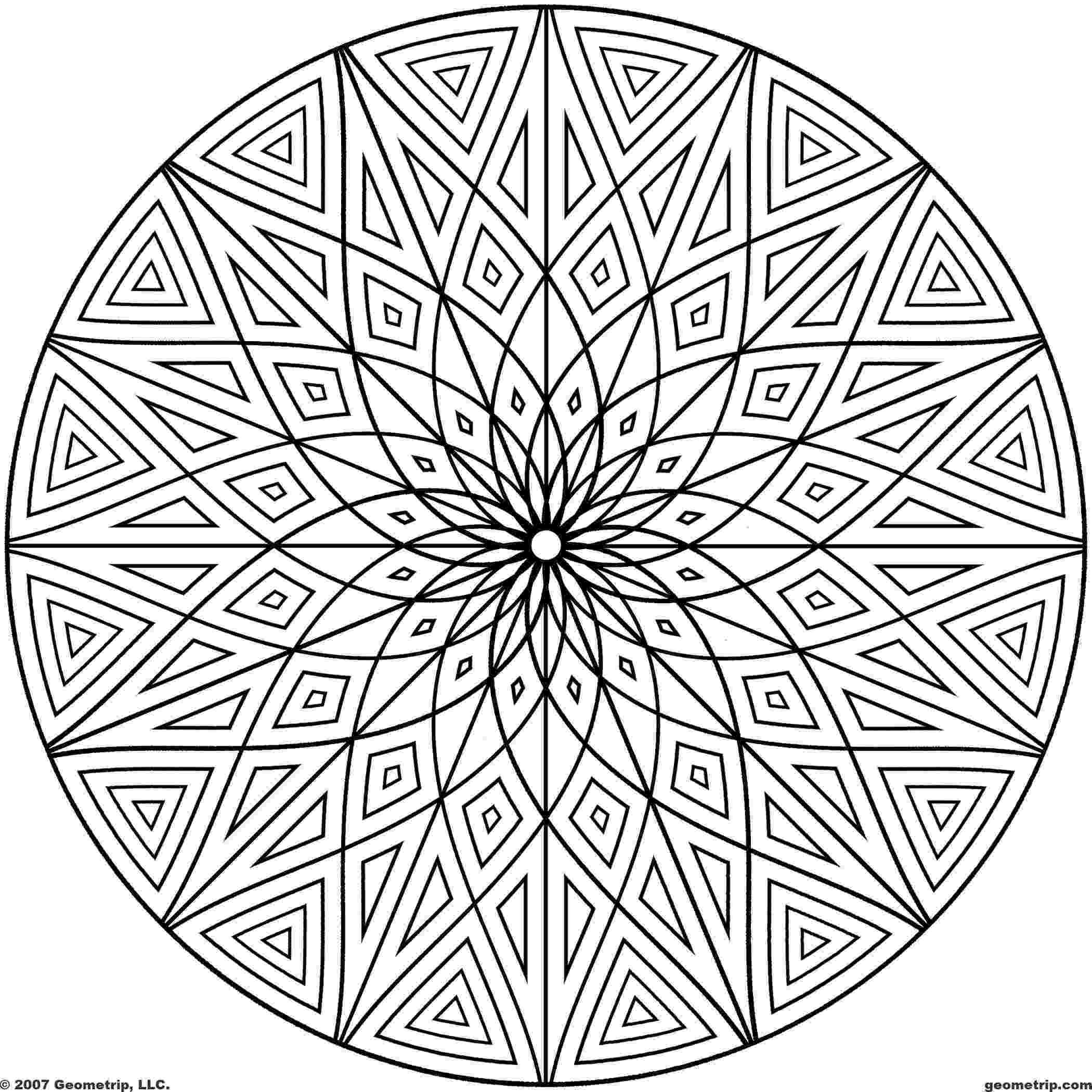design coloring page free printable geometric coloring pages for adults page design coloring