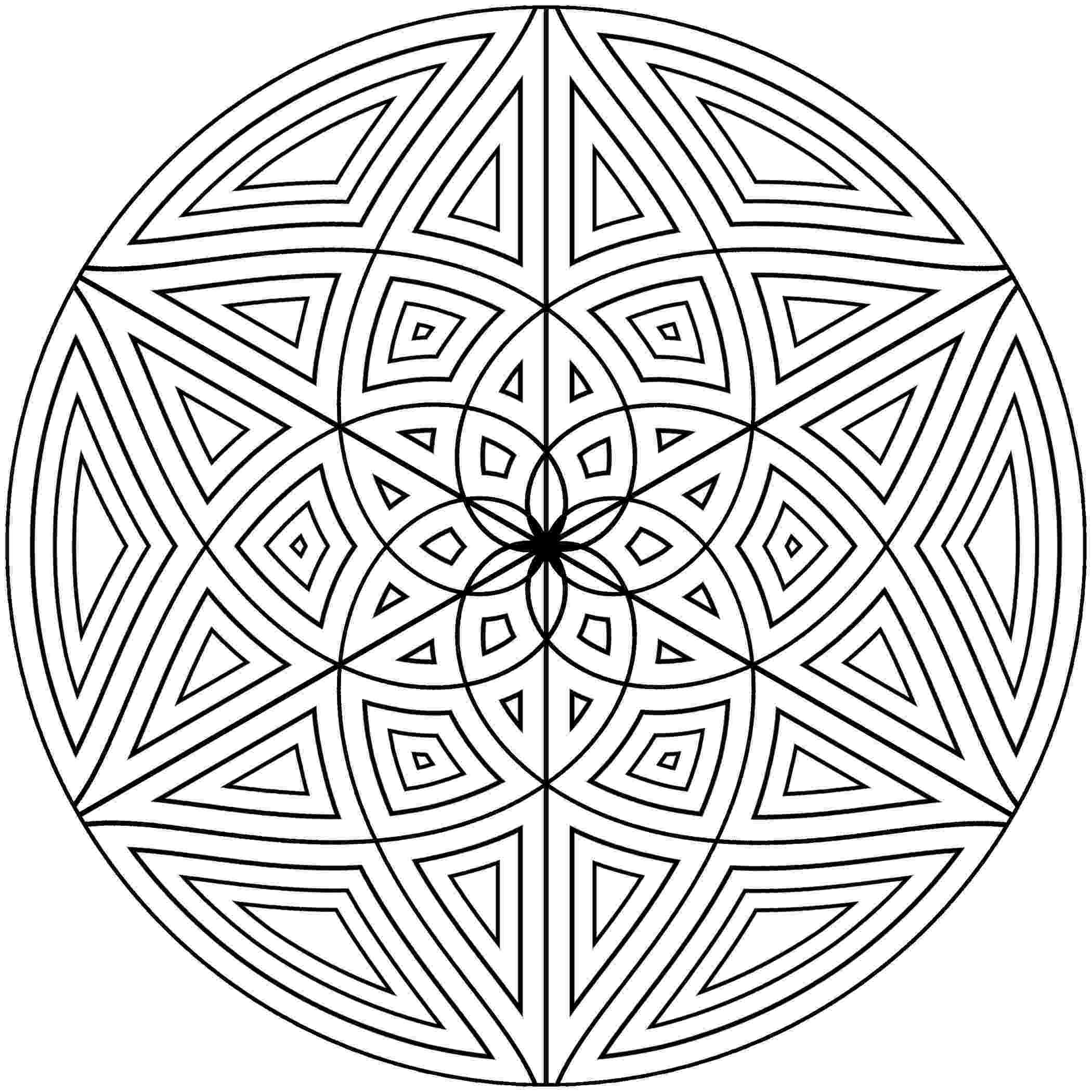 design coloring page geometric coloring pages getcoloringpagescom coloring page design
