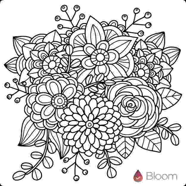 detailed flower coloring pages 10 best images about coloring pages detailed big kids coloring detailed flower pages