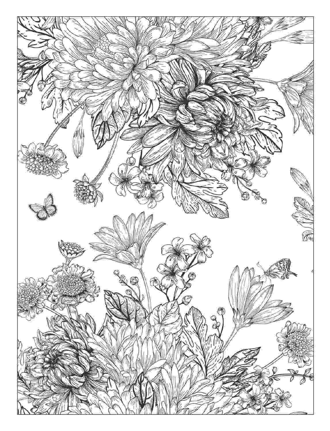 detailed flower coloring pages beautiful flowers detailed floral designs coloring book pages coloring flower detailed