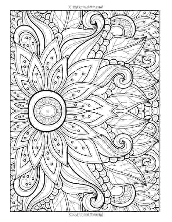 detailed flower coloring pages beautiful flowers detailed floral designs coloring book pages flower coloring detailed