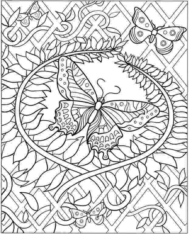 detailed flower coloring pages butterfly and flower coloring pages top coloring pages flower coloring detailed pages