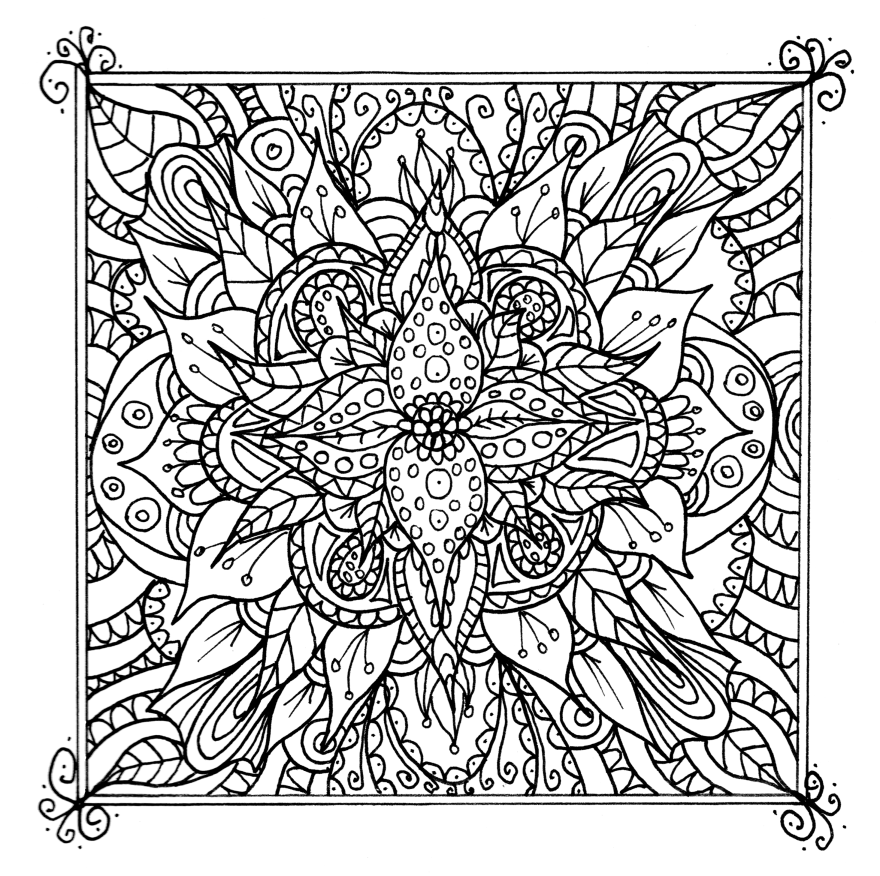 detailed flower coloring pages coloring pages detailed coloring pages for adults flower detailed pages coloring