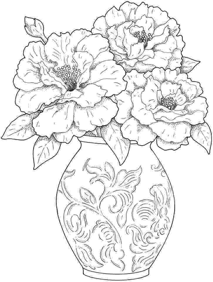 detailed flower coloring pages detailed flower coloring pages to download and print for free detailed coloring pages flower
