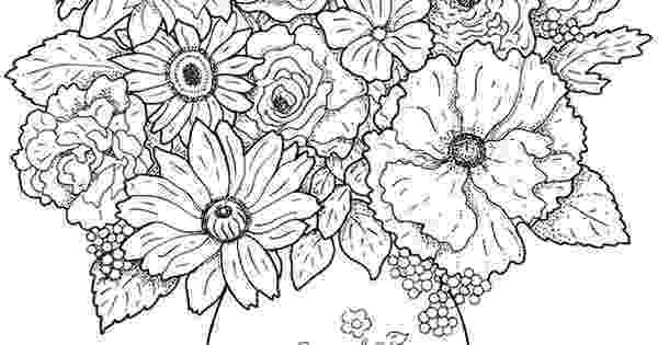 detailed flower coloring pages flower coloring pages for adults best coloring pages for detailed flower pages coloring