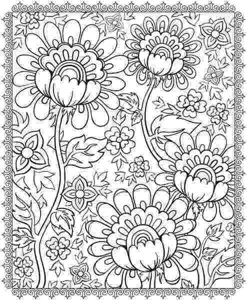 detailed flower coloring pages lovely and detailed hummingbird and flower drawing to detailed pages coloring flower