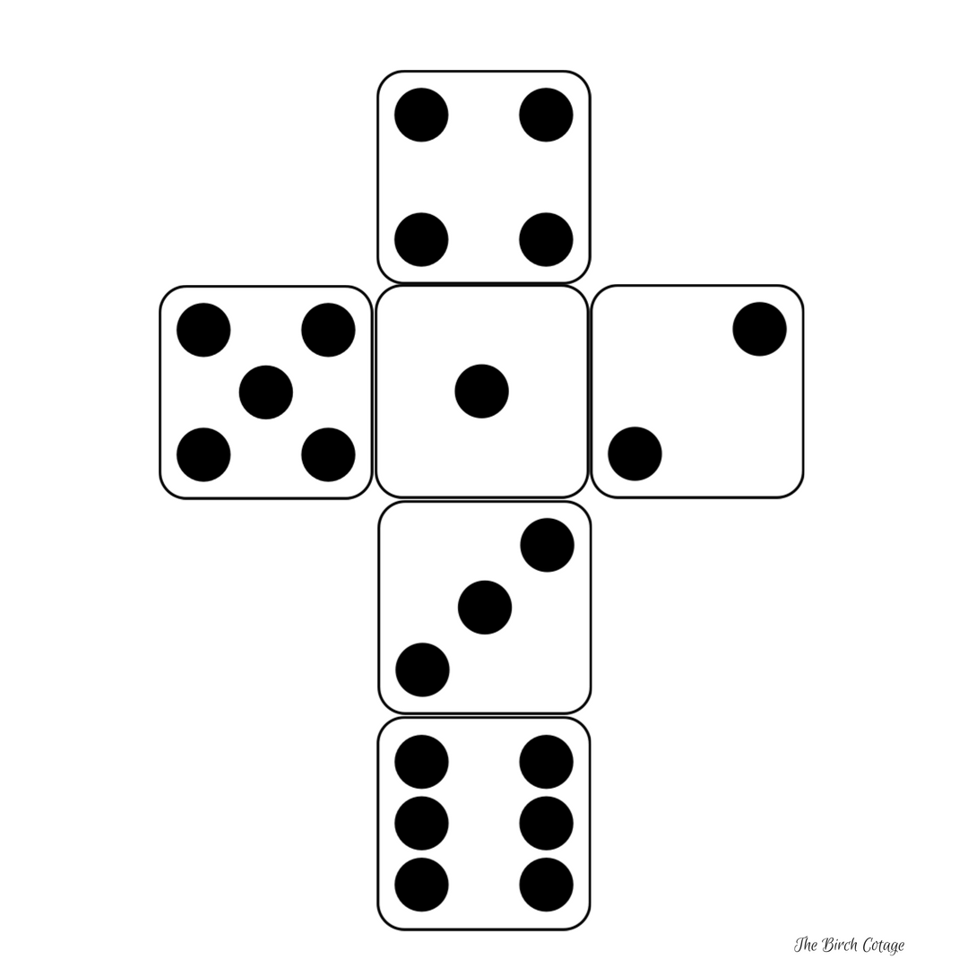 dice print classic printable paper dice template free printable dice print